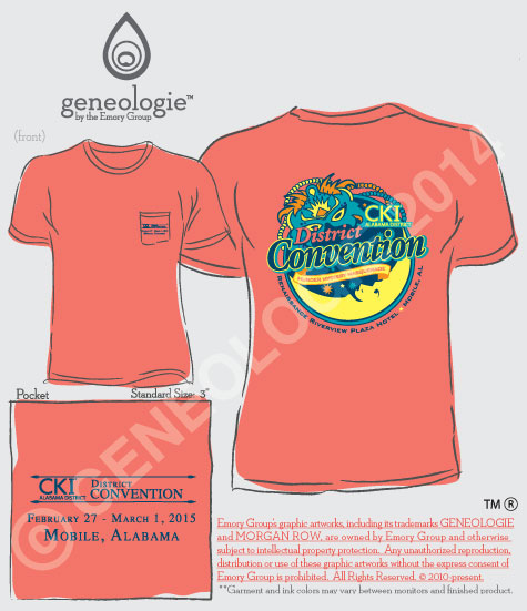 Circle K partners with Geneologie for District Convention Shirts